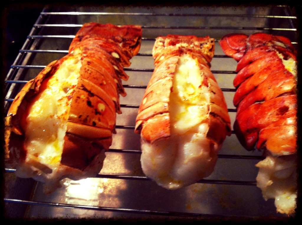 grilled lobster tail bobby flay